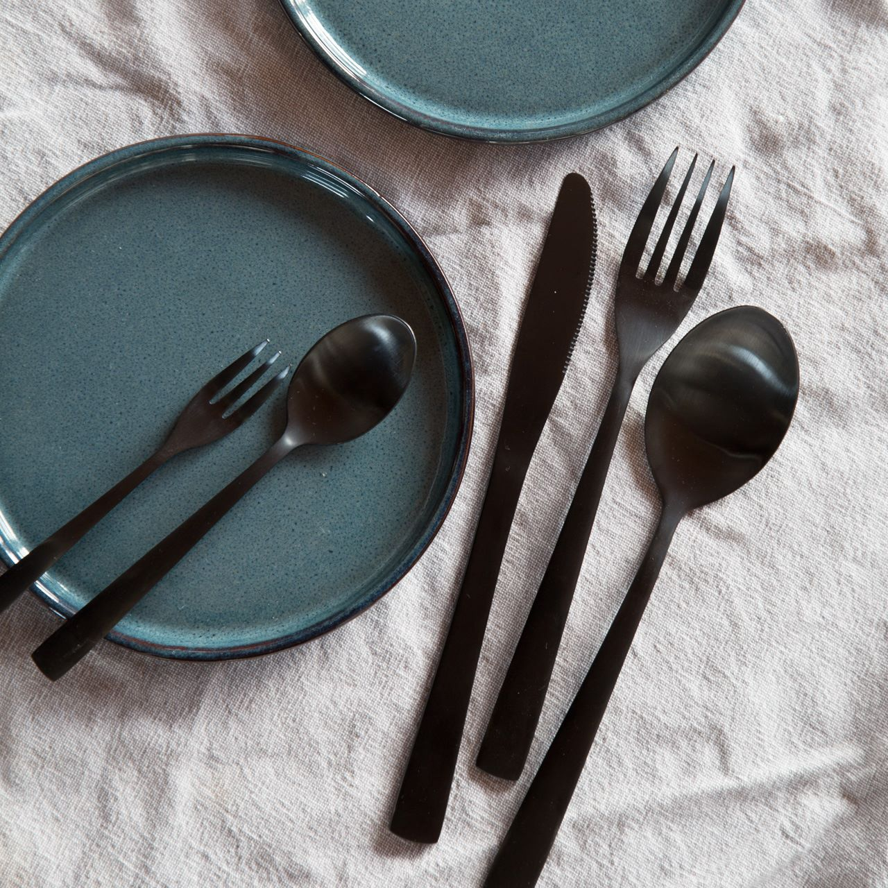 Black cutlery from Søstrene Grene